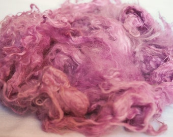 Angora Fiber Dyed - Purple and Pink Cloud - Spin Felt Weave Make - 1 oz