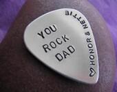 Guitar Pick - Silver - Copper - Aluminum - Handstamped Personalized Guitar Pick - Custom Guitar Pick - Personalized - Gift for Him