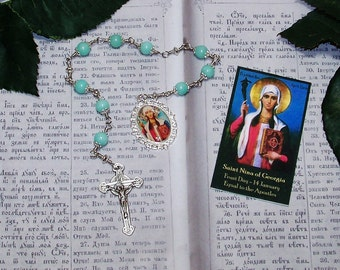 LIMITED EDITION - Saint Nina of Georgia Unbreakable Catholic Chaplet - Patron Saint of Georgia - Equal-to-the-Apostles