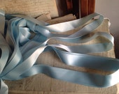 Vintage Tape, Blue Satin Ribbon, French Tape Trim. 4m Blue Edging, Millinery Ballet Dolls & Sewing Supplies