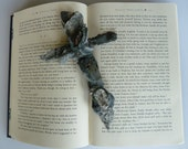 Boy's Confirmation Cross Unique Black Gothic Handcrafted Crucifix