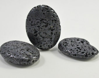 Black lava stone beads, 3 styles, #1415/1416/1431