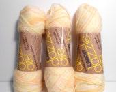 Lemon Variegated Yarn, Yellow Yarn, Destash Yarn, Caron Dazzle Aire Yarn, Caron Yarn, Yellow Destash,