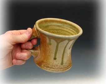 WOOD FIRED MUG #35 - Wood Fired Pottery - Ceramic Coffee Mug - Large Mug - Studio Pottery