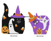 Plastic Canvas Ghostly Playmates Wall Hangings Instant Download