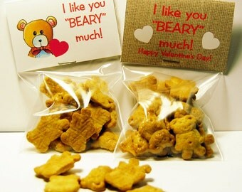 Beary Valentine Treat Bag Toppers ~ Printable gift labels