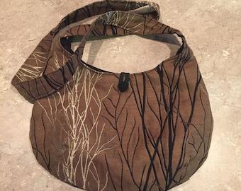 Brown natral cross body satchel