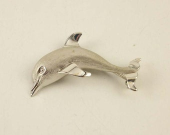 Vintage Beau Sterling Dolphin Pin