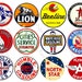 Gas Signs - Digital Oil Can Labels, Americana Garage Signs, Gasoline Label Stickers, Petroleum Decals, Rusty Metal Sign Collage Papers, 323a