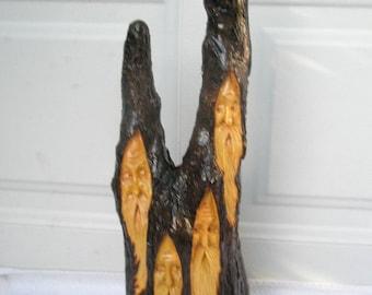 Free Shipping The Gathering Wood Spirit Santa carving