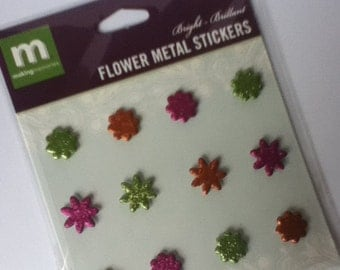 Flower Metal Stickers Bright 12pcs by Making Memories