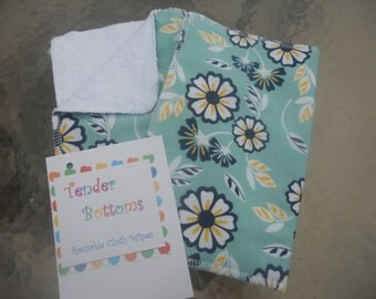 12 Ct Unpaper Towels with Terry Cloth backs by Tender Bottoms Sized 10x12 inches