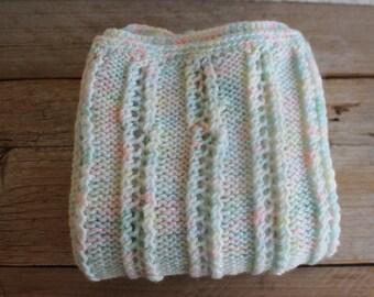 Vintage Handmade Baby Blanket // Pastels