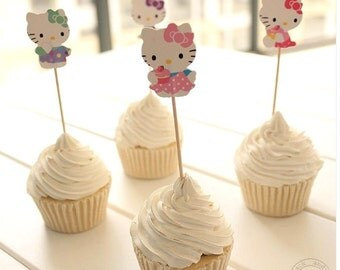 Hello Kitty Cupcake Toppers - set of 24