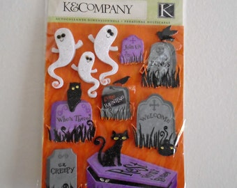 K and Company Halloween ghost stickers, scrapbooking