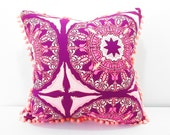 Funky Boho pillow, purple pink pillow, Scatter throw pillow quatrefoil large cushion cover Light Purple Cushion, Bohemian Pillows, pale pink