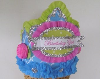 Birthday party hat, birthday party crown, girl birthday hat, adult birthday hat, customize