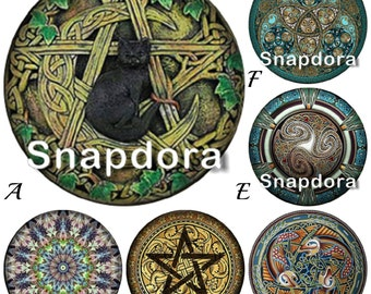 Snap Charms fit Regular sized Snap Jewelry. Wicca Snap charms for 18-20 mm Ginger Snaps Bracelets