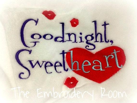 Valentine Blanket-Goodnight Sweetheart