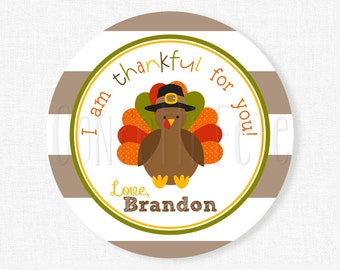 Thankful For You Tag, Turkey Tags, Fall Party Favors, Fall Tags, Thanksgiving Tags, Turkey Birthday, Personalized