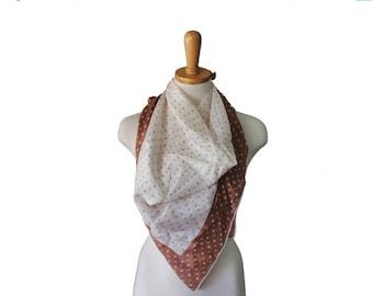 30% off sale // Vintage 50s Atomic Print Fashion Scarf - Silk - Midcentury Fashion