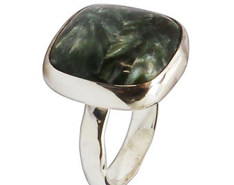 Serifinte and Sterling Silver Ring, Size 7-1/2  r75srfe2673
