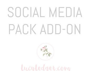 Social Media design pack add-on for any logo purchased