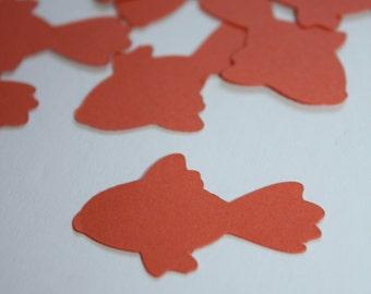 Goldfish Die Cut Confetti - 200 pieces Orange Goldfish