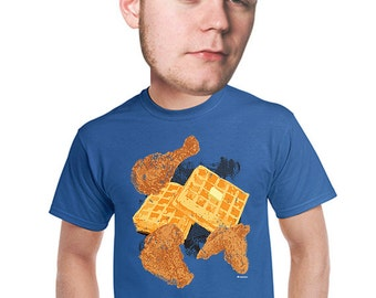 chicken and waffles t-shirt geeky nerdy kitschy gift for foodie breakfast soul food fan drunk food funny fast food t-shirt 2-4xl