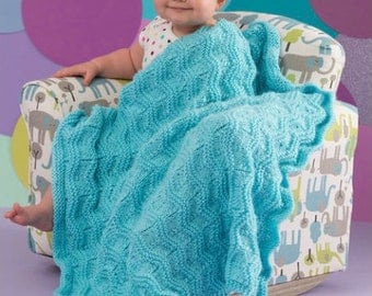 Knitting Pattern Baby Blanket Instant Download Knitted Baby Blanket PDF Pattern Baby Shower Gift