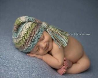 Tassel Hat  - Newborn Size, Made To Order