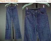 """40% OFF 60s Jeans Vintage 1960s Lone Star Western Denim High Waist Dark Wash Dungarees USA W 27"""" S"""
