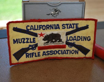 California State Muzzle Loading Rifle Association Jacket Patch, Gun Club Patch.