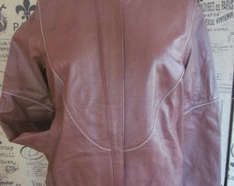 REDUCED...Vintage All leather Lined DE ZEN Paris Cuirs Cafe Racer Soft Supple Pants and Jacket set French France / Leather coat / biker