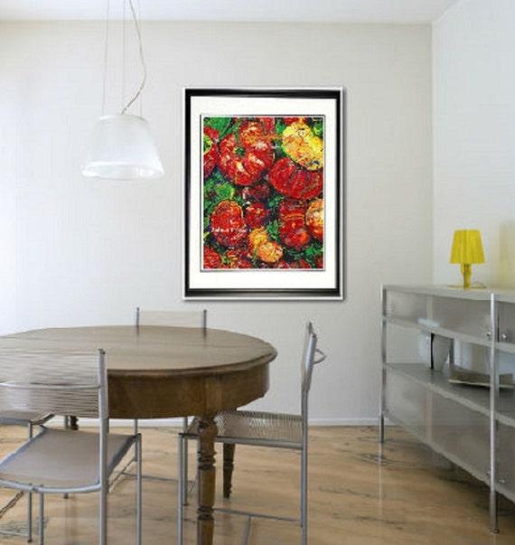 Kitchen Wall Decor Vegetables : Chef wall art kitchen garden vegetable
