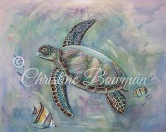 Sea Turtle Dreams 11x14 print