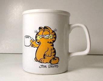 Vintage Coffee Mug / Garfield Coffee Cup / 1980s Mug / Jim Davis / Cat Collectibles