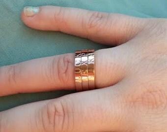 Mantra ring, custom ring, rose tone ring, silver tone ring, gold tone ring, personalized ring, stainless steel ring, stacking ring