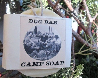 Camp Soap Bug Bar Soap on a Rope