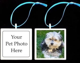 Custom Photo Pet Ornament (Made to Order)