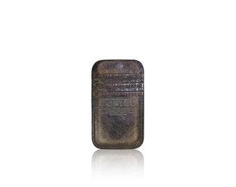 iPhone SE, iPhone 5 RETROMODERN aged leather pocket - - DARKBROWN