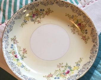Vintage Soup Bowl Floral Nat32 National China Made in Japan #3658