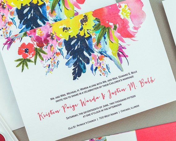 Bright Wedding Invitations