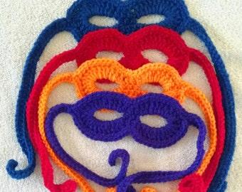Set of 4 crochet ninja mask