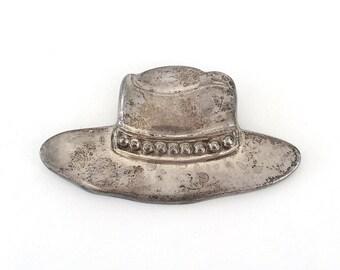 VINTAGE Sterling Silver COWBOY HAT pin 925 Vintage Jewelry