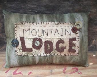 Primitive Rustic pillow Mountain Lodge