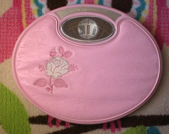 Counselor Scale, Pink, Midcentury, retro bathroom decor
