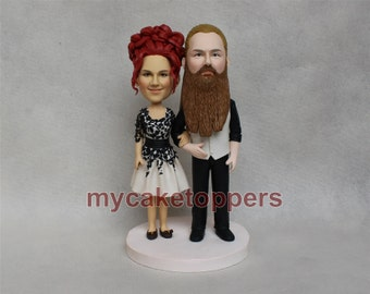 caricature wedding cake topper, custom caricature, birthday cake topper, for his and hers, Father's day, Mother's day, ocaasion gift
