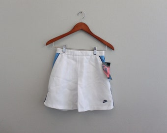 Vintage 70s / 80s white Nike Mini Shirt  Medium with TAGS