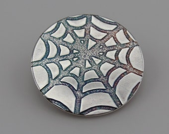 Sterling Silver Discs with Cobweb pattern